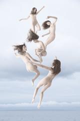 Falling Angel (SoulReaver photography) Tags: sea girl beauty angel clouds nude interesting artistic floating levitation falling fineartphotography levitating tiepolo artisticnude soulreaverphoto ricardovossrossi ricardofalero