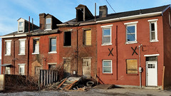 Doomed Row Houses, Lawrenceville (real00) Tags: city urban landscape pittsburgh pennsylvania urbanlandscape westernpennsylvania 2000s 2016 alleghenycounty 2010s pittsburghregion willreal williamreal