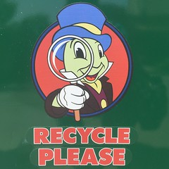 Please! (Lennox / Sissel) Tags: disneyland magnifyingglass anaheim jiminycricket recycleplease