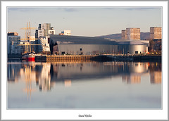 Riverside Morning Reflections (flatfoot471) Tags: bridge urban museum sunrise landscape dawn scotland riverclyde riverside unitedkingdom glasgow ships milleniumbridge normal yorkhill 2012 glenlee