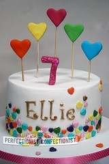 Ellie - Hearts Birthday Cake (PerfectionistConfectionist) Tags: christeningcake girlsbirthdaycake heartsbirthdaycake celebrationcakemalahide noveltycakeswords cakesbaldoyle