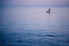 Blue Cuba (Andrea LD) Tags: blue sea man men silhouette canon eos is l usm ef f4 6d 24105 24105mm menintheworld