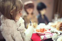 """""""Lemme take a photo first!"""" (lightlybattered) Tags: christmas tree dinner ball miniature doll williams f16 michele bjd superdollfie volks cecile tae abjd fcs jointed balljointed sdgr sd17 volksdoll"""