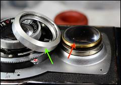 KWT Reflekta II Prontor-S (02) (Hans Kerensky) Tags: tlr warning lens plate front ring ii shutter viewing loose removing kwt welta reflekta prontors