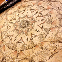 Mandala 002 (LviaVieitoLT) Tags: drawing mandala zen draw desenho indianink nankin nanquim chinaink zentangle zendoodle