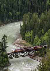 Kicking Horse Climb (elevation-media) Tags: horse mountain river sub pass rail railway canadianpacific cp kicking 3084 funits gp382 funit 4106 4107 fp9 royalcanadianpacific