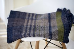 Ciel et Terre shawl (Heaven and Earth) (chickpeastudio) Tags: shawl weaving handwoven