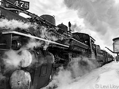 #dogwoodweek5 Landscape: B&W (sunnydayphotoworks) Tags: railroad travel winter blackandwhite snow train colorado tracks steam durangocolorado durangosilvertonnarrowgaugerailroad