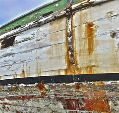Working Boat Restoration (sswj) Tags: california leica old northerncalifornia composition harbor boat raw availablelight naturallight worn weathered existinglight hull halfmoonbay scottjohnson pillarpoint sanmateocounty pillarpointharbor woodboat abstractreality dl4 workingboat woodhull boatrestoration