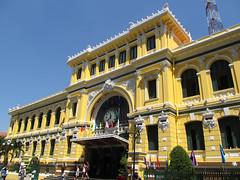 """Ho Chi Minh Ville: la Poste <a style=""""margin-left:10px; font-size:0.8em;"""" href=""""http://www.flickr.com/photos/127723101@N04/24236733359/"""" target=""""_blank"""">@flickr</a>"""