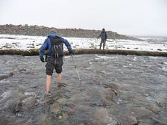 Freezing crossing (Untamed Borders Adventure Travel) Tags: afghanistan trekking rivercrossing pamirs wakhan wakhancorridor littlepamir trekkingwakhan