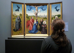 Van der Weyden, Crucifixion Triptych, detail with Beth viewing