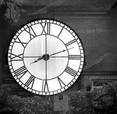 26/366 Time to Reflect - 366 Project 2 - 2016 (dorsetpeach) Tags: england white black reflection clock time dorset 365 dorchester 2016 366 monorhome aphotoadayforayear 366project second365project