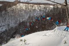 Jesse Parkinson - Cork Bs 540 (jacksontstewart1) Tags: trip trees winter snow nature japan jesse snowboarding jump hokkaido powder yuki backcountry airtime snowboarder niseko 540 booter parkinson moiwa japow