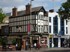 The Fountain (KiranParmar) Tags: blackandwhite fountain buildings timber leicester timbered the