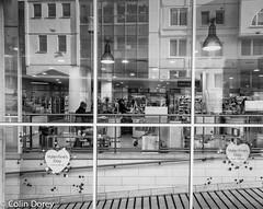 Kensington-2-Edit.jpg (Colin Dorey) Tags: winter blackandwhite bw reflection london window monochrome blackwhite kensington february waitrose 2016 rbkc earlscourtroad