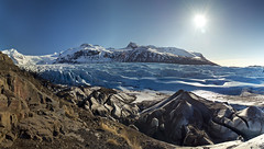 A Frozen Deluge (gwendolyn.allsop) Tags: park blue winter mountains ice water frozen iceland glacier national skaftafell svinafellsjokull d5200