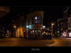 Arnhem - Bovenbeekstraat (PGKreling) Tags: street city holland reflection night lights pub moody nightshot arnhem nederland tavern approved stad kroeg streetshot binnenstad