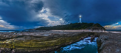 dark clouds sweeping in over the lighthouse (Honey Fried Chicken) Tags: lighthouse rocks day australia rainy nsw centralcoast darkclouds norahhead