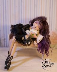 Raven Queen OOAK by WillStore (willka_ann) Tags: high doll sleep ooak queen after custom raven ever repaint reroot eah willstore