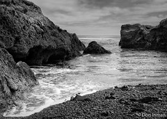 Point Lobos, California Central Coast (doninmanphotography) Tags: ocean california blackandwhite usa coast us waves unitedstates fineart northamerica coastline centralcoast seashore rockycoastline pointlobosstatereserve rockyseashore seascapephotography