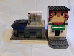 Buildings... (cakes1241) Tags: old city building vintage town lego greenhouse modular moc
