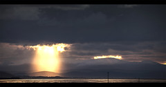 Crepuscular Rays (MMcStudio) Tags: sunset skyscape landscape crepuscularrays wirral stormyskies hilbreisland moelsparade