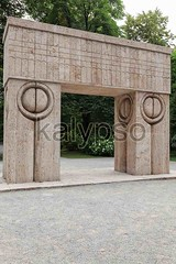 The Gate Of The Kiss, Romania (kalypsoworldphotography) Tags: park sculpture abstract art heritage history tourism monument nature statue stone architecture landscape design memorial gate kissing war europe artist arch outdoor famous culture landmark carving architectural historic east collection national romania triumph historical civilization concept marble brancusi sculptor attraction symbolic constantin triumphal targujiu gorj patrimony