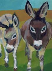 verde valley burros (EllenJo) Tags: arizona art painting artwork donkeys artshow burros acryliconcanvas 12x16 ellenjo ellenjoroberts forartshow oldtownframeshopapril2016