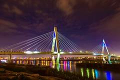 Cable bridge_8th bridge of Ahvaz_ over the Karun river ! (sona.eskandarnezhad) Tags: longexposure bridge night river cityscape nightshot iran cloudysky karun ahvaz darkrss