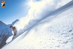 GWack @ #AllBack (Snow Front) Tags: winter sun snow mountains clouds snowboarding cloudy sunny powder snowboarder freeride powpow deeppow loadedsnow