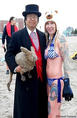 Dr. Takeshi Yamada and Seara (Coney Island Sea Rabbit) at the winter swimming event by the Coney Island Polar Bear Club at the Coney Island Beach in Brooklyn, New York on January 17 (Sun), 2015.  mermaid.  20160117Sun DSCN3451=ps10C2. Laura (searabbits23) Tags: winter ny newyork sexy celebrity art beach fashion animal brooklyn asian coneyisland japanese star yahoo costume tv google king artist dragon god cosplay manhattan wildlife famous gothic goth performance pop taxidermy cnn tuxedo bikini tophat unitednations playboy entertainer samurai genius donaldtrump mermaid amc mardigras salvadordali billclinton hillaryclinton billgates aol vangogh curiosities bing sideshow jeffkoons globalwarming takashimurakami pablopicasso steampunk damienhirst cryptozoology freakshow barackobama polarbearclub seara immortalized takeshiyamada museumofworldwonders roguetaxidermy searabbit ladygaga climategate
