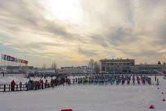 Лыжня России на стадионе Сметаниной