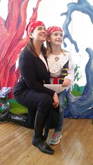 Lily & Mommy (Joe Shlabotnik) Tags: cameraphone lily flushingmeadows sarahp 2016 queensmuseum spooktacular galaxys5 january2016