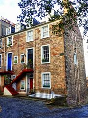 Ramsay Garden, Edinburgh (photphobia) Tags: uk windows building architecture buildings garden scotland edinburgh doors outdoor oldtown ramsay ramsaygarden oldwivestale buildingsarebeautiful edinburghinwinter