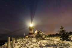 Guiding Light (Christopher A Mills Photography) Tags: winter lighthouse snow beautiful stars coast maine explore lubec christophermills christopheramills