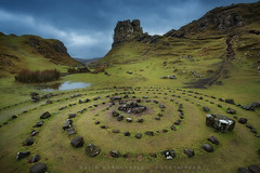 'Hearing Voices' - The Fairy Glen - Isle of Skye (Gavin Hardcastle - Fototripper) Tags: winter storm cold skye castle stone clouds circle scotland stormy glen haunted henry fairy western isle euan uig cairn enchanted trotternish
