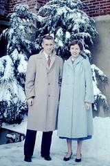 Vintage Found Photo - Roger & Karen (Mark 2400) Tags: found photo couple karen 1956 roger