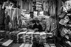 Textile / Grand Bazaar / Istanbul (oguz.unver) Tags: people turkey blackwhite culture istanbul ottomans grandbazaar