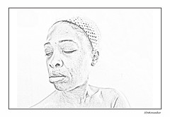 Self portrait 02/2016 | #MyStroke (Stephenie DeKouadio) Tags: portrait blackandwhite woman selfportrait beautiful face lady illustration canon sketch drawing peaceful stroke palm serenity lovely pencilsketch braininjury apraxia myapraxia mystroke mybraininjury