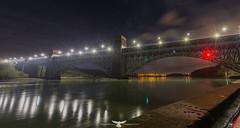BRITANNIA BRIDGE3 (Thomas Winstone) Tags: longexposure bridge sky water wales night skyscape nightsky angelsey nightscapes britannia northwales britanniabridge