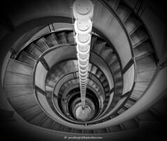 DNA staircase (Sander Grefte) Tags: blackandwhite bw stair zwartwit staircase dna trap architectuur gebouw