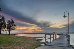 Murrays Beach NSW (judy fuller) Tags: sunset jetty serene lakemacquarie murraysbeachnsw