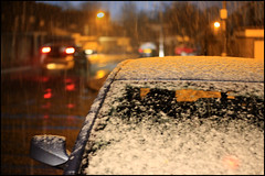 Last night in Redditch (alanhitchcock49) Tags: winter snow night march spring 4 redditch 2016