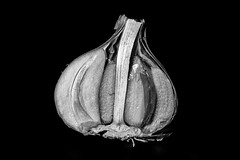 Vegetables #8 (francesco_if ) Tags: blackandwhite food macro vegetable micro garlic d3 aglio