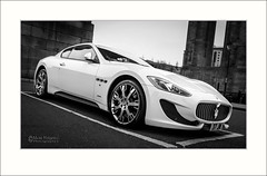 Maserati GranTurismo (stoneblower213) Tags: bw cars monochrome newcastle mono sony photoediting vehicle locations sportscar lightroom minolta1735 maseratigranturismo konicaminoltaaf1735mmf284 photoshopcc sonya7rii ilce7rm2