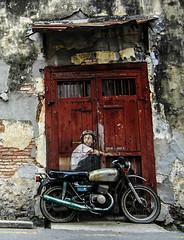 Street painting (ARS FUN PHOTOS) Tags: street color art honda painting hilarious funny biker wallpainting