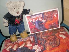 Lady in Red (pefkosmad) Tags: ted art painting toy stuffed artist venus picture hobby plush puzzle softie teddybear leisure jigsaw pastime edwardburnejones lausveneris tedricstudmuffin
