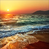 Ocean of possibilities (Katarina 2353) Tags: sunset sea summer mountain seascape beach nature landscape waves hellas greece rhodes rodhos katarinastefanovic katarina2353