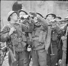 Troops of the 7th Cameronians enjoy some liberated German wine in the town of Rheine, 3rd April 1945. [800x779] #HistoryPorn #history #retro http://ift.tt/1PRoGAQ (Histolines) Tags: history town wine some retro german enjoy april timeline 1945 7th troops 3rd rheine liberated cameronians vinatage historyporn histolines 800x779 httpifttt1progaq
